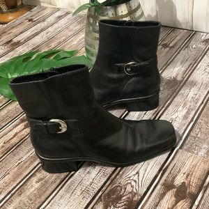 Andrew Geller Emmy Leather Ankle Boots Size 6